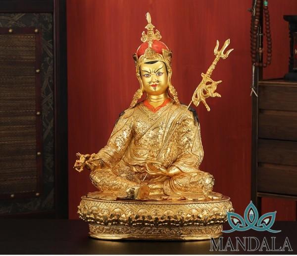 Tôn tượng liên hoa sinh 50cm đồng Nepal