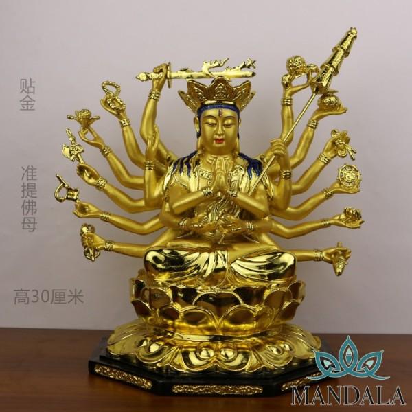 Phật mẫu chuẩn đề 30cm - Đồng thau